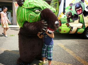 メロン熊にやられる息子
