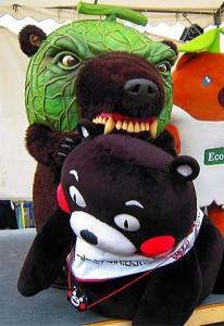 メロン熊とくまモン