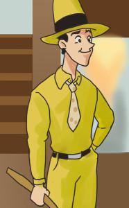 黄色い帽子のおじさん